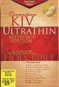 Holy Bible, Cornerstone King James Version Ultrathin Reference, Burgundy, Bonded Leather