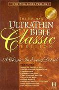 Homan Ultrathin Bible With Slide-Tab Closure Nkjv Black Bonded Leather
