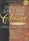 Ultrathin Classic Bible New King James Version/Slide Tab Black Bonded Leather Indexed