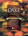 Compact Dake Annotated Reference Bible: King James Version (KJV), burgundy genuine leather
