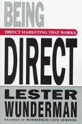 Being Direct - Lester Wunderman - Hardcover