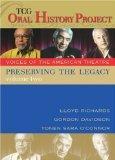 Preserving the Legacy: Lloyd Richards, Gordon Davidson Andtonen Sara O'connor
