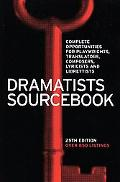Dramatists Sourcebook 25th Edition