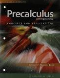 Precalculus with Trigonometry Concepts and Applications ( Instructor's Resource Book )