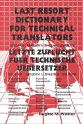 Last Resort Dictionary for Technical Translators