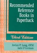 Recommended Reference Books in Paperback