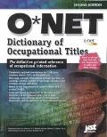 Onet Dictionary of Occupational Titles 2001