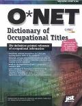 O*Net Dictionary of Occupational Titles 2001