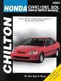 Chilton's Honda Civic and Del Sol 1996-00 Repair Manual Covers All U.S. and Canadian Models ...