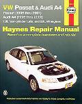 Vw Passat & Audi A4 Automotive Repair Manual Models Covered  Vw Passat - 1998 Through 2001, ...