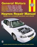 General Motors Chevrolet Malibu 1997 Thru 2003 Oldsmobile Alero 1999 Thru 2003 Oldsmobile Cu...