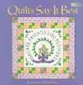 Quilts Say It Best - Eileen Westfall - Paperback