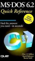 MS-DOS 6.2 Quick Reference - Sally Davis Neuman - Paperback