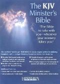 Holy Bible King James Version Minister Burgundy Genuine Leather