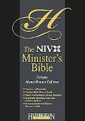 Holy Bible New International Version Minister Top Grain Black Leather