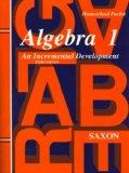 Algebra 1: An Incremental Development - Homeschool Packet, 3rd Edition
