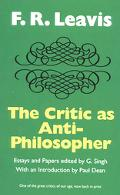 Critic As Anti-Philosopher Essays & Papers