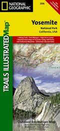 Yosemite National Park, CA - Trails Illustrated Map # 206 (National Geographic Trails Illust...