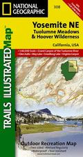 Yosemite National Park - Tuolumne Meadows & Hoover Wilderness - Trails Illustrated Map # 308