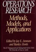 Operations Research Methods, Models, and Applications