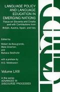 Language Policy and Language Education in Emerging Nations Focus on Slovenia and Croatia Wit...
