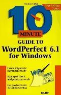 10 Minute Guide to WordPerfect 6.1 for Windows - Joe Kraynak - Hardcover - REV