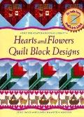 Hearts and Flower Quilt Block Design