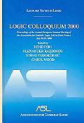 Logic Colloquium 2000 Proceedings Of The Annual European Summer Meeting Of The Association F...