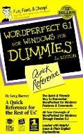 Wordperfect 6.1 F/wind.f/dum.,quick Ref