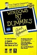 Windows NT for Dummies: Quick Reference - Valda Hilley - Other Format
