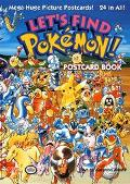 Lets Find Pokemon Post Card Book