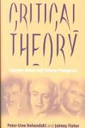 Critical Theory Current State and Future Prospects