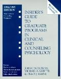 Insider's Guide to Graduate Programs in Clinical and Counseling Psychology 1996/1997