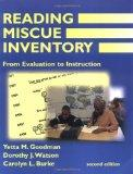 Reading Miscue Inventory: From Evaluation To Instruction