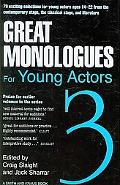Great Monologues For Young Actors