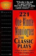60 Seconds to Shine Volume 6: 221 One-Minute Monologues from Classic Plays (60 Seconds to Sh...