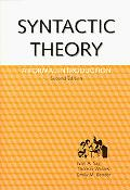 Syntactic Theory A Forma Introduction