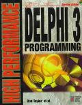 High Performance Delphi 3 Programming - Don Taylor - Paperback - BK&CD ROM