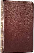 Classic Reference Bible English Standard Version  Burgundy Genuine Leather