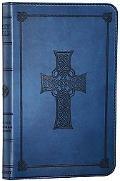 Holy Bible English Stanard Version, Trutone Blue Cross Imitation Leather