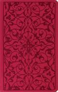 Holy Bible English Standard Version, Wild Rose, Floral Design, Red Letter, Thinline Trutone