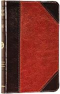 Holy Bible English Standard Version, Brown/cordovan, Portfolio Design, Red Letter, Compact T...