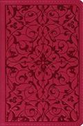 Holy Bible English Standard Version, Wild Rose, Floral Design, Red Letter, Compact Trutone E...