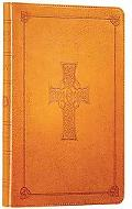 Holy Bible English Standard Version, Saddle, Celtic Cross Design, Red Letter, Thinline Trutone