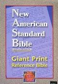 NASB Giant Print Reference Bible: New American Standard Bible Update, burgundy leathertex, t...