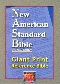 NASB Giant Print Reference Bible: New American Standard Bible Update, black leathertex, thum...