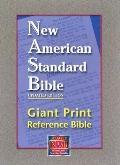 NASB Giant Print Reference Bible: New American Standard Bible Update, burgundy genuine leath...