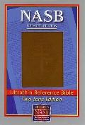New American Standard Bible Ultrathin Reference: NASB Update Brown Diamond Stamp LeatherTex