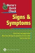 Nurse's Quick Check Signs And Symptoms