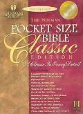 Pocket-Size Bible Classic Edition Holman Christian Standard Bible, Blue, Bonded Leather, Sna...